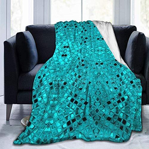 NE Throw Blanket Blue Fish Scale Pailletten Ultraweiche Micro Fleece Decke 50 x 40 Zoll warme Decke für Erwachsene Bett Couch Decke Leichte Decke