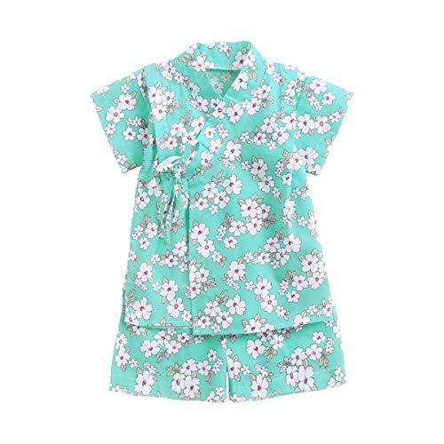 Kids Ropa Bebe Niña Recién Nacido Verano Kimono Bebé Recién Nacido Niñas Corta Mangas Mameluco + Tutú Falda Short Ropa Floral Trajes