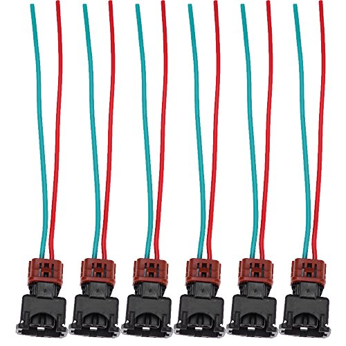 Fuel Injector Connector Pigtail Harness for Nissan Maxima 300ZX Z32 90-94TT 90-93NA Injector Wiring Harness (6-Pack)
