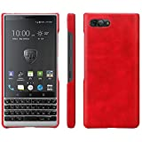 HualuBro BlackBerry KEY2 Hülle, Ultra Slim Premium Leichtes PU Leder Leather HandyHülle Tasche Schutzhülle Hülle Cover für BlackBerry Key 2 Smartphone (Rot)