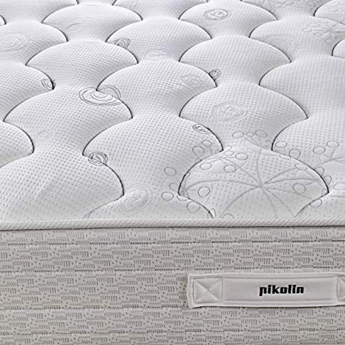 PIKOLIN Colchón de muelles avanzados Normablock Confort viscoelástico 135x190, firmeza Media, Altura 25 cm