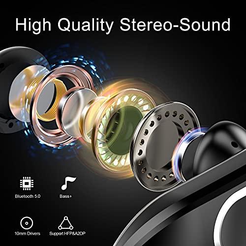 Raykit Cuffie Bluetooth Sport, Auricolari Bluetooth con 48 Ore, IPX7 Impermeabili Controllo Touch Cuffie Wireless con HD Mic, Bassi Potenziati, Type-C, Cancellazione del Rumore Cuffiette Bluetooth