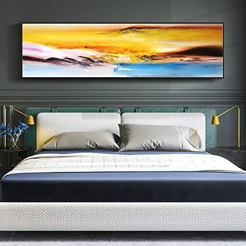 WSNDGWS Bedside Painting, woonkamer, wanddecoratie, canvas schilderij, geen fotolijst 35x120cm C2
