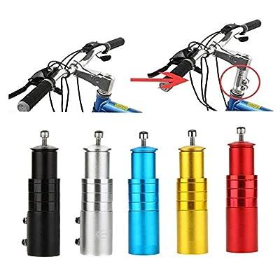 BlueSunshine Bike Handlebar Riser Bicycle Fork Stem Raiser Extender Head Up Raiser Aluminum Alloy (Black)
