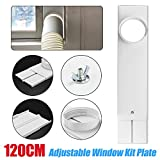Mggsndi 120cm Window Slide Kit Plate, Exhaust Hose/Tube Connector for Portable Air Conditioner Spare Parts,Include Window Adaptor, Inner Plate,Outer Plate,Window Adaptor Screws Set