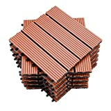 wolketon terrace tiles WPC wood plastic tiles balcony tiles click tiles garden decking deco, waterproof, corrosion-resistant and easy to install