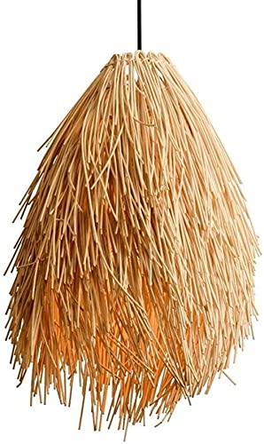 yanzz E27 Lámpara Colgante de bambú Creativa Europa del Norte Simple Hecho a Mano Colgante de ratán Luz Casa de té Bar Restaurante Hotel Bar Decoración del hogar Lámpara de Techo