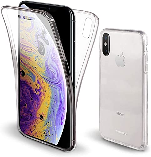 Cracksin 360° Grad Hülle für Apple iPhone X/XS Handyhülle Stoßfest Crystal Clear Transparente Schutzhülle TPU Full Cover Handy Tasche Handyschutz