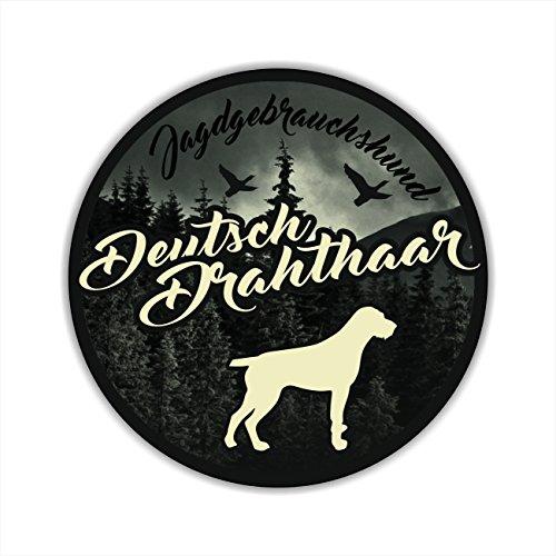 Auto Aufkleber JAGDHUND DIGI DEUTSCH DRAHTHAAR DD VORSTEHHUND Hundeaufkleber Siviwonder Jagd