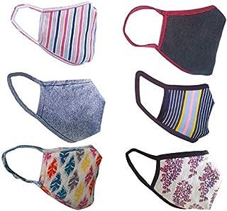 Cotton Cloth pack of 12 Face Mask Washable Reusable Face Masks Soft Earloop/Mouth Nose Cover face masks Men Women Kids Uni...