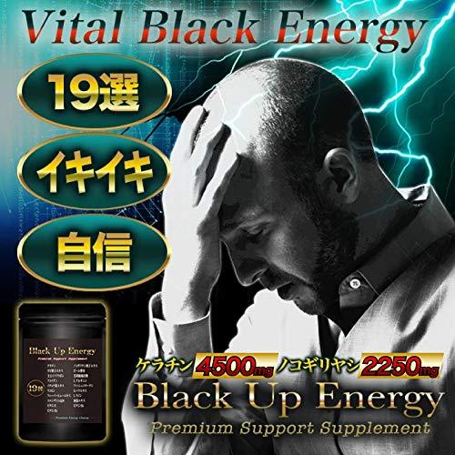 『Black Up Energy ノコギリヤシ ケラチン サプリメント 厳選19素材 30日分』の1枚目の画像