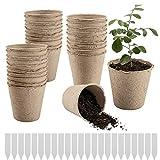 Best Growing Pots - Cosweet 100 Pcs 3'' Large Peat Pots, Plant Review