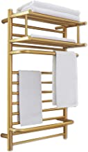 Plug-in/Hardwired Towel Warmer Electric Heated Clothes Airer Dryer, Wall Mounted Electric Heated Towel Rack Heated, Quick ...