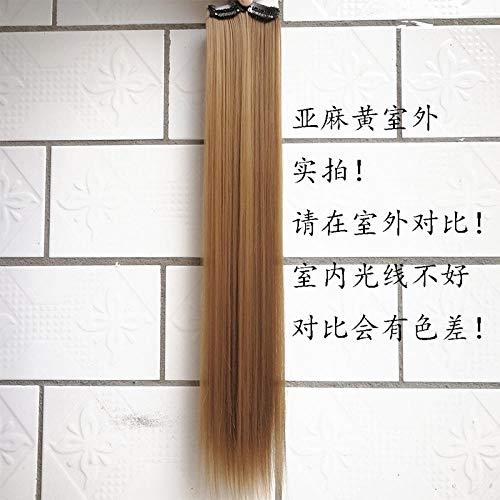 GWSJF Extension de cheveux raides 5cm pad 60cm haute qualité Perruque Cosplay Pour femmes Chaleur résistant Mode Glamour perruque avec Free Bonnet