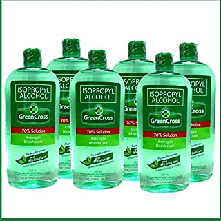 Green Cross Isopropyl Alcohol 70% W/Moisturizer 500ml (Pack of 6)