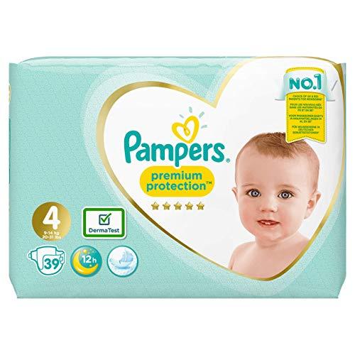 Pampers Premium Protection Windeln, Größe 4 Maxi (9-14 kg), 1er Pack (1 x 39 Stück)