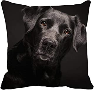 Aidabo Black Lab Decorative Throw Pillow Cover for Sofa Couch Bed 16 x 16in