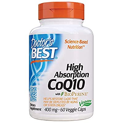 Doctor's Best High Absorption CoQ10 with BioPerine, Non-GMO, Gluten Free, Naturally Fermented, Vegan, Heart Health and Energy Production