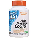 Doctor's Best High Absorption CoQ10 with BioPerine, Non-GMO, Vegan, Gluten Free, Naturally Fermented, Heart Health & Energy Production, 400 mg 60 Veggie Caps