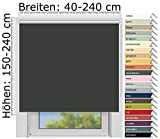 EFIXS Thermorollo Maxi - 32 mm Welle - Farbe: dunkelgrau (061) - Größe: 180 x 240 cm (Stoffbreite x Höhe) - Hitzeschutzrollo - Verdunklungsrollo