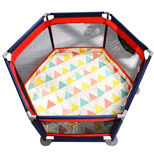 AABBC Childrens Playpen, Portable Baby Toddler Fence with Anti-Slip Mat, Kids Safety Barrier for Boys and Girls The Best Birthday Gifts, Extra Tall 65cm
