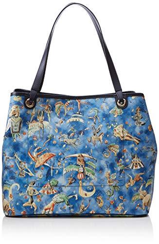 piero guidi Bag, Borsa Tote Donna, (Blu Notte), 36x29x17 cm (W x H x L)