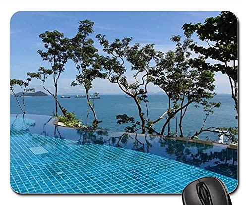 Mauspad - Swimmingpool Ozean modernes Design Luxus Entspannung