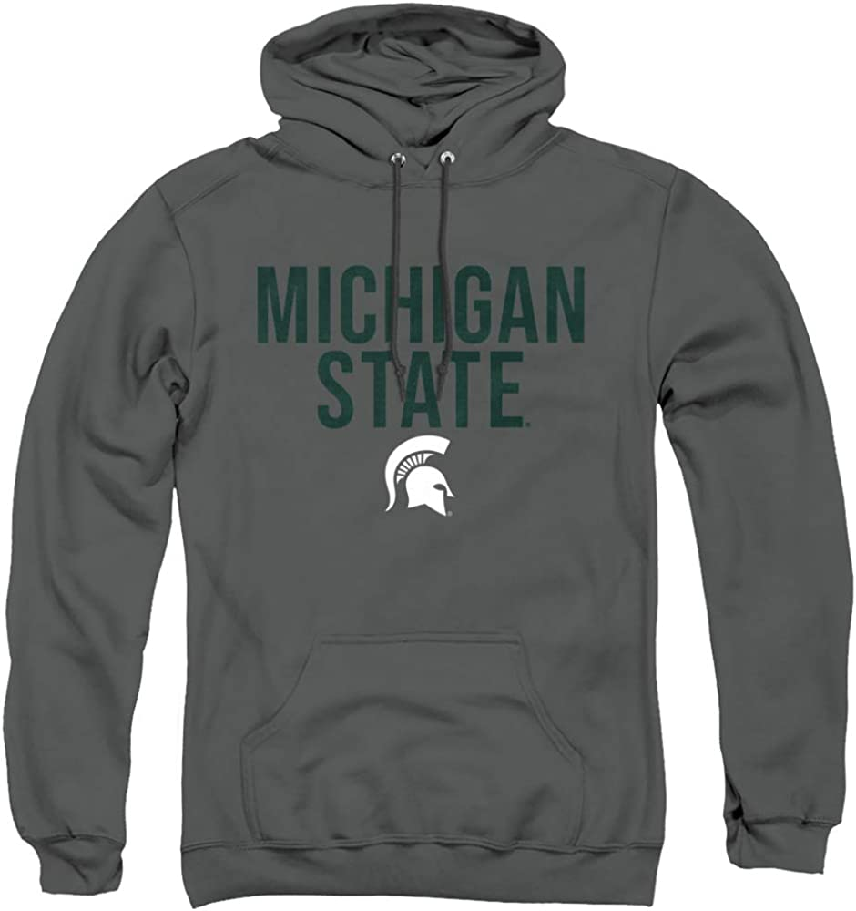 Michigan State University Now Long Beach Mall free shipping Stacked Pull-Over Hoodie Adult Unisex