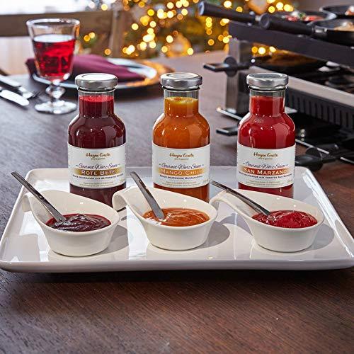 Gourmet Würz-Saucen für Raclette und Fondue: Spitzenqualität, rein natürliche Zutaten