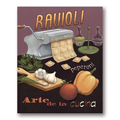 Ravioli Art Print Poster by Daphné Brissonnet, 8 x 10