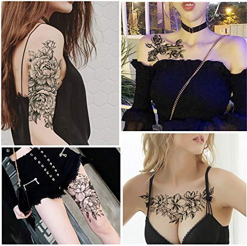 BLOUR 1 Stück Neuer Blumenarm wasserdichter Tattoo-Aufkleber Halbarm Farbe Tattoo-Aufkleber kann angepasst Werden HB1600 Modelle zur Auswahl