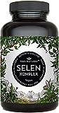 Selen Komplex - 200µg Selen je Tablette - Hochwertig mit 3 Selenformen: Natriumselenit, L-Selenmethionin, Selenhefe - 365 Tabletten Jahresvorrat - Ohne unerwünschte Zusätze, in Deutschland produziert