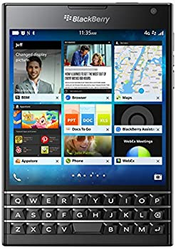 BlackBerry Passport 32GB Factory Unlocked  SQW100-1  GSM 4G LTE Smartphone - Black  International Version Blackberry OS   Renewed