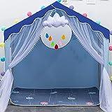 Azul Tipi Infantil con Luces LED de Estrella,Cabañas para Niños de Cabaña Casas Infantilespara Regalo de Niños,100x140x136cm