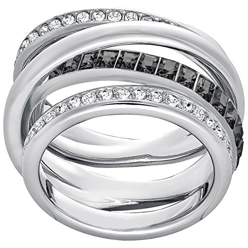 Swarovski Damen-Ring Dynamic rhodiniert Kristall transparent Gr. 55 (17.5) - 5202250
