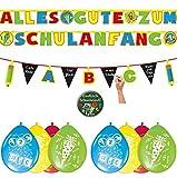 Dekoset zum Schulanfang 2 x Girlanden + 8 x Luftballons + Sticker