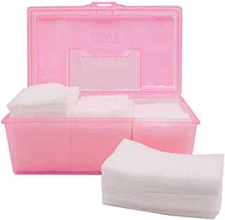 500Pcs By a Box Portable Makeup Facial Soft Cotton Pads Soft Hypoallergenic and Lint free Cotton Wipes for Applying Lotion Removing Face Makeup Eye Makeup and Nail Polish