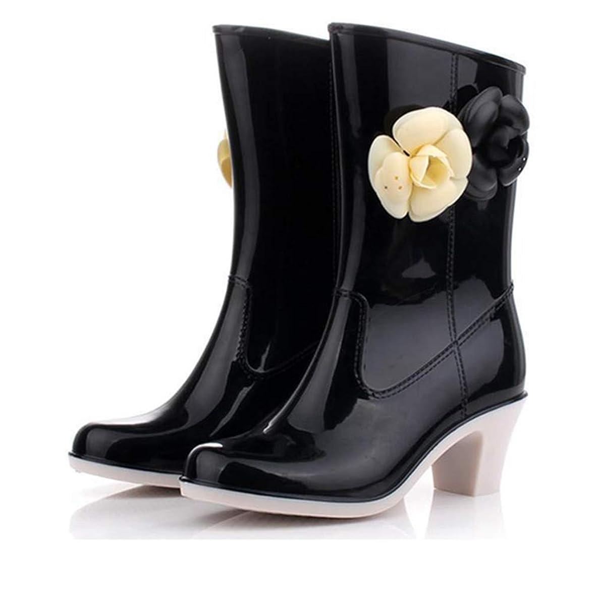 体操飼料雑多な[OceanMap] レインブーツ レディース ロング 美脚 可愛い 長靴 防寒 軽量 防水 防滑 雨靴 大きいサイズ おしゃれ アウトドア 作業靴 ロングブーツ 婦人靴 ラバーブーツ 雪 雨 梅雨 雨靴 24.5cm 25cm
