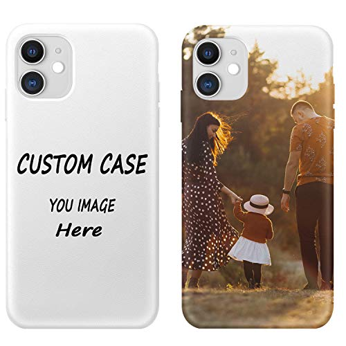 Custom Phone Case Compatible with iPhone 11 6.1 inch Customized Phone Case Cover Personalized Make Your Own Photo Protective Picture Matte Soft TPU Cell Phone Cases Gift for Birthday Xmas Valentines