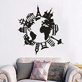 Travel World Popular Place Mural de Pared Mural Vinilo decoración de Interiores...