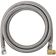 Certified Appliance Accessories Dishwasher Hose with 90 Degree MIP Elbow, Water Supply Line, 6 Feet, PVC Core with Premium Braided Stainless Steel