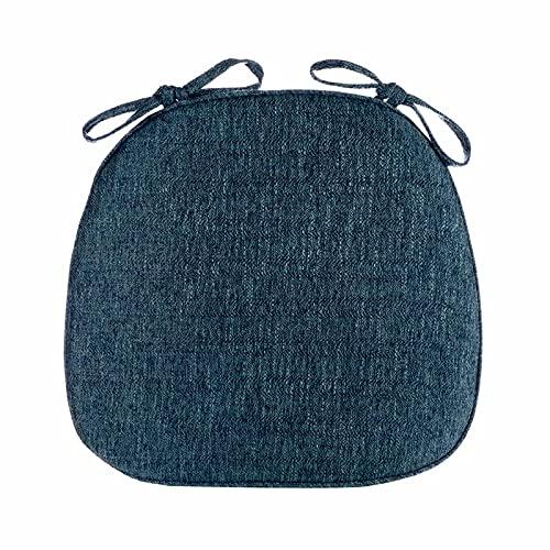 SRHWBF Sedia Cuscino,Forma di U a Forma di Sedia Antiscivolo Respirabile Cuscini da Pranzo Traspirante Cuscini Blu Navy Blu