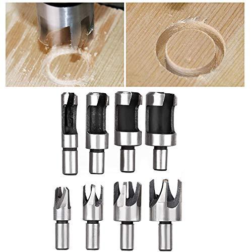 Cortador de tapón de madera, juego de cortador de tapón de madera, herramienta de corte Taladro de banco Uso para taladro de banco Taladro eléctrico manual