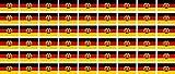 Mini Aufkleber Set - Pack glatt - 20x12mm - Sticker - DDR Flagge - Banner - Standarte fürs Auto, Büro, zu Hause und die Schule - 54 Stück