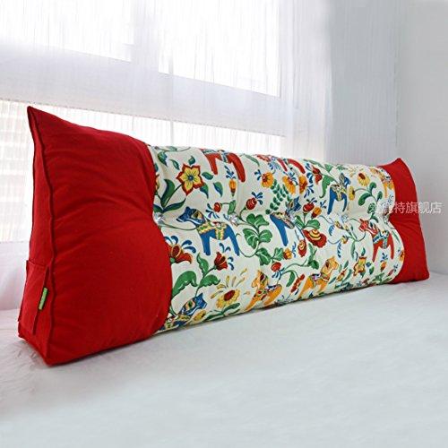 Uus Triangle canapé Coussin tête de lit Design Ergonomique Dossier Doux et Confortable Moderne Couette Populaire Oreiller Taille Taille 200 * 60 * 20cm (Couleur : D)
