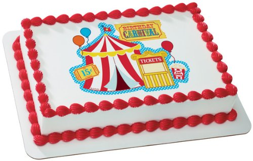 Carnival Edible Birthday Cake Topper