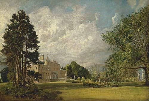FAN C. John Constable - Malvern Hall, Warwickshire Leinwandbilder Reproduktionen Gerollte 120X80 cm - Landschaft Gemälde Gedruckt Wandkunst
