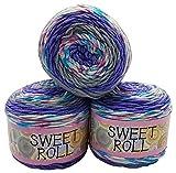 Himalaya Sweet Roll 1047-30 - Ovillo de lana para tejer (3 ovillos de 140 g, 420 g), multicolor