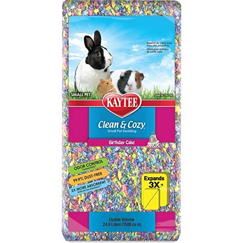 Kaytee Superpet | Clean & Cozy para Animales pequeños/Roedor/Cama para hámster | Birthday Cake| 99,9% Libre de Suciedad| Control de olores | 24,6 litros