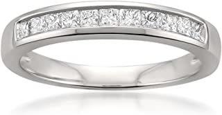 La4ve Diamonds Platinum Princess-Cut Diamond Bridal Wedding Band Ring (1/2 cttw, H-I, VS2-SI1)
